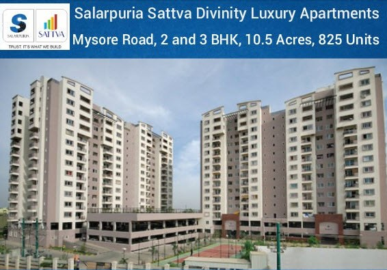 Salarpuria Sattva Group Is Launching New Residential Project On Mysore Road At Bangalore Divinity A Versatile In