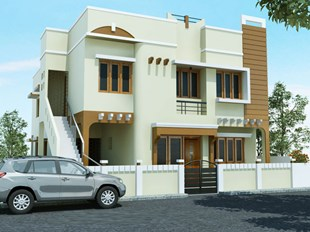 Plot Area 2400sq.fee Two Storied Twin Private Houses.